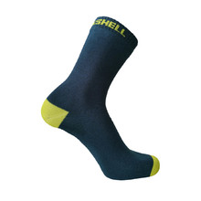 DexShell Ultra Thin Crew wasserdichte Socken - Navy-Lime