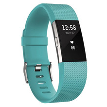 FITBIT Charge 2 Teal Silver Fitnessarmband
