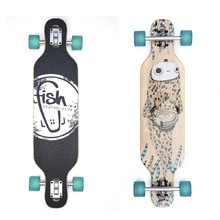 "Fish Drumfish 35"" Longboard - Silver-Transparent Green"