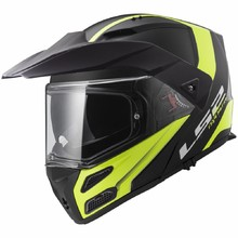LS2 FF324 Metro Rapid Matt Black Yellow P/J Klapphelm