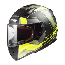 LS2 FF353 Rapid Carrera Black H-V Yellow Motorradhelm