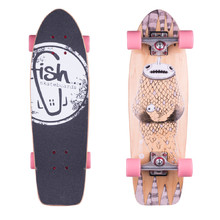 "Fish Old School Cruiser Narwhal 26"" Mini Longboard"