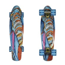 "ArtFish Elephant 22"" Penny Board - silber-transparent blau"