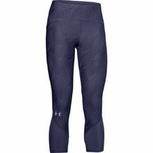 Under Armour W Fly Fast Jacquard Crop Damen 3/4 Kompressionsleggings - Blue Ink