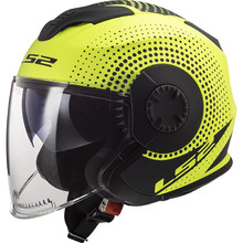 LS2 OF570 Verso Motorradhelm - Spin Matt Hi Vis Yellow