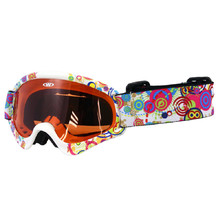 Kids ski goggles WORKER Sterling with graphics - weiß-schwarz mit Grafik