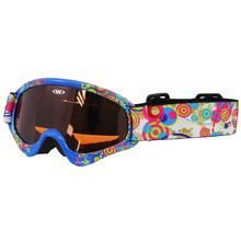 Kids ski goggles WORKER Sterling with graphics - blau-schwarz mit Grafik