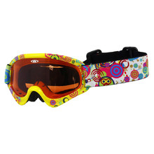Kids ski goggles WORKER Sterling with graphics - gelb-schwarz mit Grafik