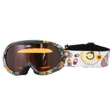 Junior ski goggle  WORKER Doyle with graphics - schwarz / Grafik
