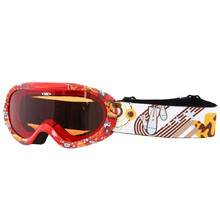 Junior ski goggle  WORKER Doyle with graphics - rot / Grafik