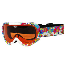 Kids ski goggles WORKER Miller with graphics - weiß-schwarz mit Grafik
