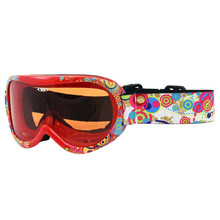 Kids ski goggles WORKER Miller with graphics - rot-schwarz-weiß mit Grafik