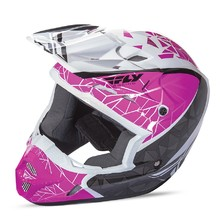 Fly Racing Kinetic Crux Motocross Helm - rosa/schwarz/weiss