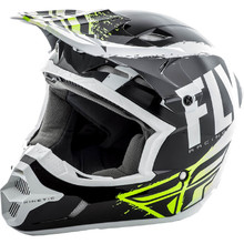 Fly Racing Kinetic Burnich Motocross Helm - schwarz-weiß