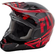 Fly Racing Kinetic Burnich Motocross Helm - schwarz/red/orange
