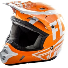 Fly Racing Kinetic Burnich Motocross Helm - orange-weiß