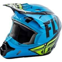 Fly Racing Kinetic Burnich Motocross Helm - blau-schwarz