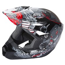 Fly Racing Kinetic Youth Invasion Kinder Motocross Helm - grau