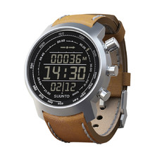 Suunto Elementum Terra N/ Brown leather Outdoorcomputer - silber-brown