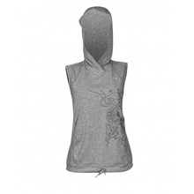 Damen-Kapuzenweste Newline Imotion Heather Hoodie - Heidegrau
