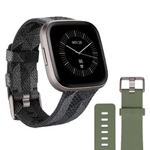 Fitbit Versa 2 Special Edition Smoke Woven Smartwatch
