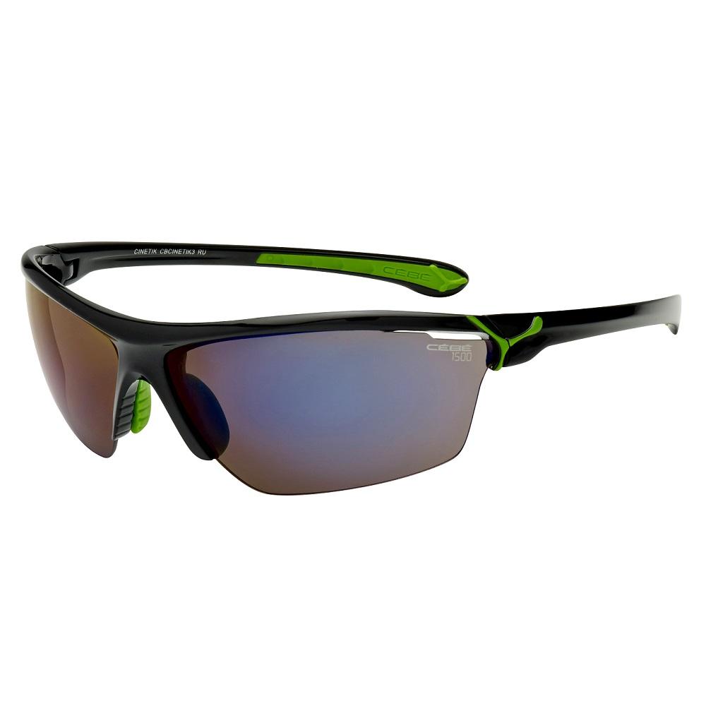 Cébé Sonnenbrille 'Cinetik', glänzend schwarz